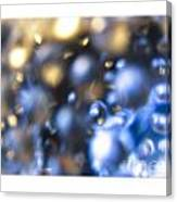 Bubble In Blue Canvas Print