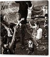 Bubbles And Kids - Central Park Sunday Canvas Print