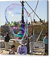 Bubbles Big Ben Canvas Print
