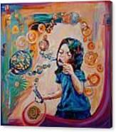 Bubbles Bubble Canvas Print