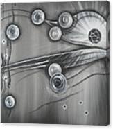 Bubbles In Grey Canvas Print