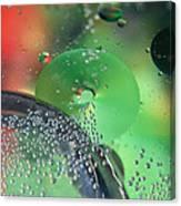 Bubbling Color Canvas Print