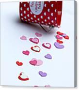 Bucket Of Hearts Canvas Print