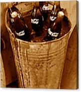 Bucket Of Iced Cold Coca Cola Canvas Print