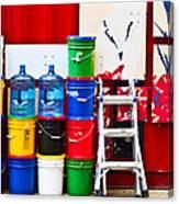 Buckets Of Color Canvas Print