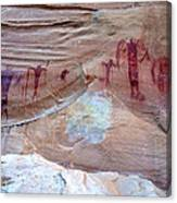 Buckhorn Wash Barrier Canyon Style Pictographs  Canvas Print