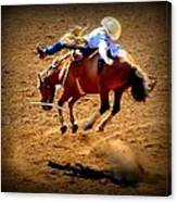 Bucking Broncos Rodeo Time Canvas Print