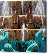 Buckingham Fountain Closeup Canvas Print