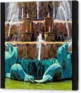Buckingham Fountain Closeup Poster Canvas Print