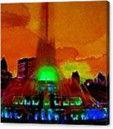 Buckingham Fountain Fantasy Chicago Il Canvas Print