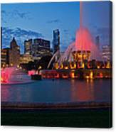 Buckingham Fountain Light Show Canvas Print