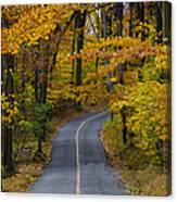 Bucks County Road In Autumn Canvas Print