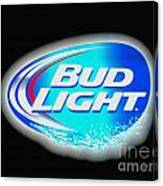 Bud Light Splash Canvas Print