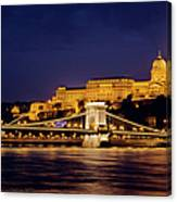 Buda Castle And Chain Bridge Canvas Print