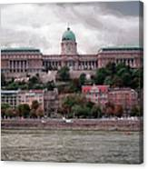 Buda Castle Facade Canvas Print