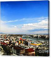 Budapest And Blue Danube Canvas Print