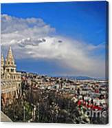 Budapest And Fisherman's Bastion Canvas Print