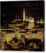 Budapest Castle Canvas Print