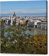 Budapest City Canvas Print
