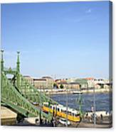 Budapest Cityscape And Liberty Bridge Canvas Print