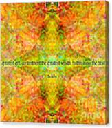 Budda Quote On Life Canvas Print