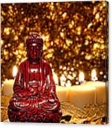 Buddha And Candles Canvas Print