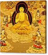 Buddha And Fairies Canvas Print