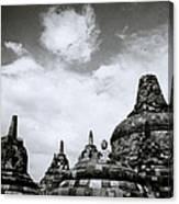 Buddha And Stupas Canvas Print