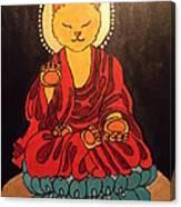 Buddha Cat Asian  Canvas Print