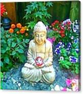 Backyard Buddha Canvas Print