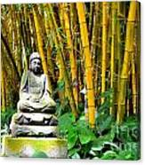 Buddha In The Bamboo Forest Canvas Print