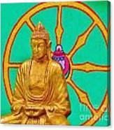 Buddha In The Grove Canvas Print