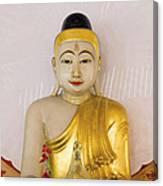 Buddha Statue In Thailand Temple Altar Canvas Print