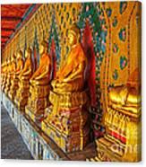 Buddhas At Wat Arun, Bangkok Canvas Print