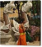 Buddhist Monk Thailand 3 Canvas Print