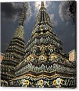 Buddhist Temple In Bangkok Thailand Buddhism Wat Po Canvas Print