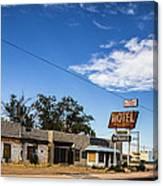 Budget Motel Canvas Print