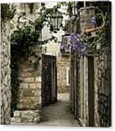 Budva Old Town Street Montenegro Canvas Print