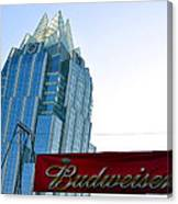 Budweiser And Building  Canvas Print