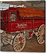 Budweiser Anheuser Busch Wagon Canvas Print