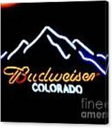 Budweiser In Colorado Canvas Print