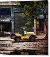 Buenos Aires Jeep Under The Rain Canvas Print