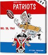 Buffalo Bills 1963 Playoff Program Canvas Print
