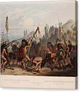 Buffalo Dance Of The Mandan Indians Canvas Print