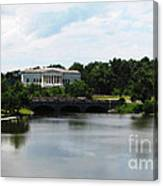 Buffalo History Museum And Delaware Park Hoyt Lake Oil Painting Effect Canvas Print