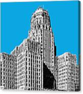 Buffalo New York Skyline 1 - Ice Blue Canvas Print