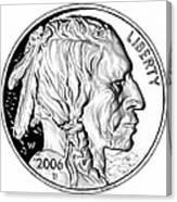 Buffalo Nickel Canvas Print