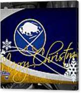 Buffalo Sabres Christmas Canvas Print