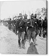Buffalo Soldiers Of The 24th U.s Canvas Print