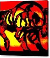 Buffalo Sun Set Canvas Print